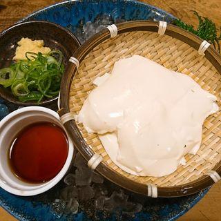 手作りざる豆腐
