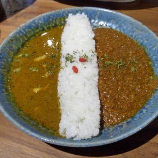 2種合い掛けスパイスカレー(スパイスカレー新海 神谷町店)