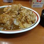 若鶏竜田カレー&豚スタミナ焼き丼(カレールー1.5倍&ご飯大盛り)(Sガスト 久喜駅店 (エスガスト))