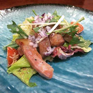 限定 マンガリッツァポークの前菜 サラダ仕立て(海老丸らーめん)