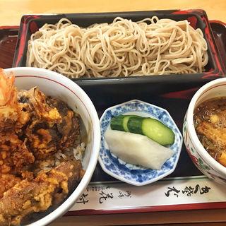 半天丼 志の田蕎麦セット(花村 )
