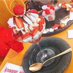 メレンゲといちごのクリームパフェ