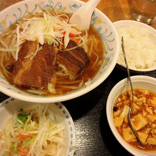 角煮ラーメンセット(蘇州屋台 )