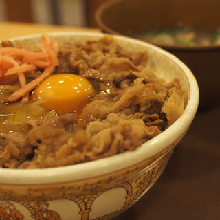 牛丼(大)あさり汁たまごセット(すき家 豊中浜店 )