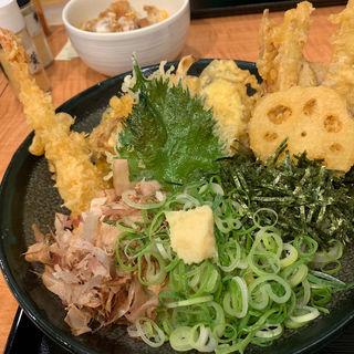 天ぷらぶっかけ冷(うどん 白木商店)