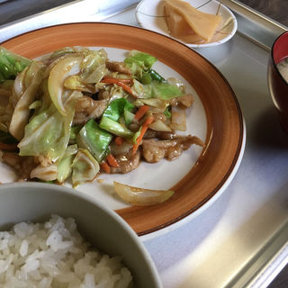 ホルモン焼定食(ふじや食堂)