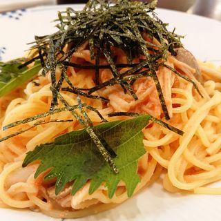 スパゲッティ 博多明太子・きのこ・のり