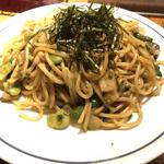 ウニ生麺のアサリと春野菜のウニ醤油炒めスパゲティ(スペシャル)