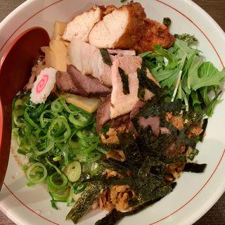 煮干しまぜそば鶏ささみ竜田揚げトッピング(ひのき屋 )