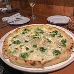 しらすと海苔のクリームピザ