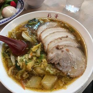 サイカラーメンバラチャーシュー入り煮卵トッピング(彩華ラーメン 橿原店 (さいからーめん))