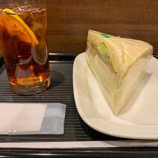 たっぷりレタスのハムサンド(カフェ・ベローチェ 末広町店 )