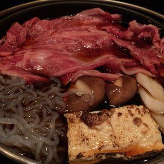 黒毛和牛雌牛のすき焼(焼肉 銀座コバウ )