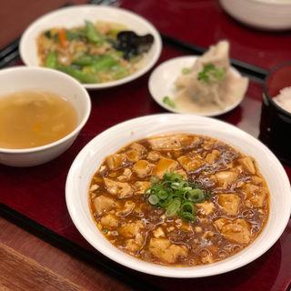 麻婆セット(青冥 大丸梅田店 (チンミン))