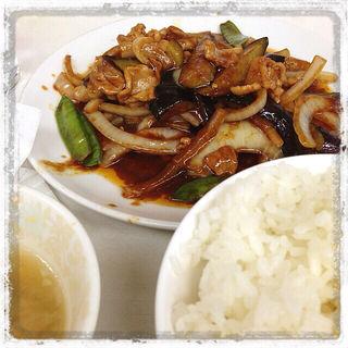 茄子味噌炒め定食(兆楽 道玄坂店 )