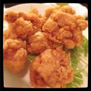 鶏もも唐揚げ定食(しお)(らんまん食堂 )