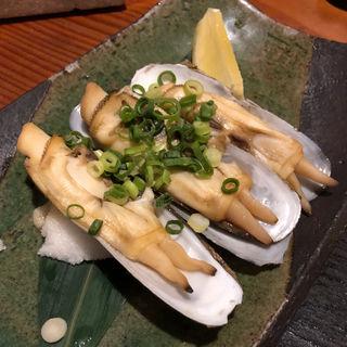 あげまき貝のバター焼き(ぜんざい)