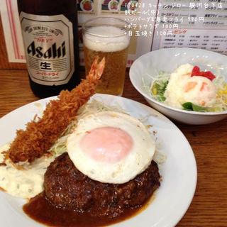 ハンバーグ&海老フライ(キッチン ジロー 駿河台下店 (kitchen JIRO))