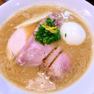 特製鴨だし白湯ラーメン(麺屋福丸)