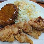 新ハンバーグ&若鶏竜田定食