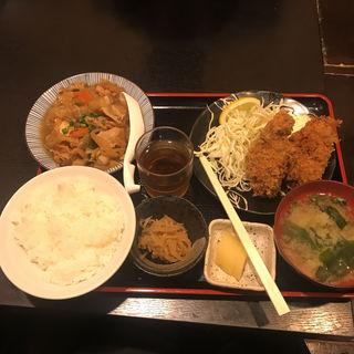 カキフライ+肉豆腐(わぶ )