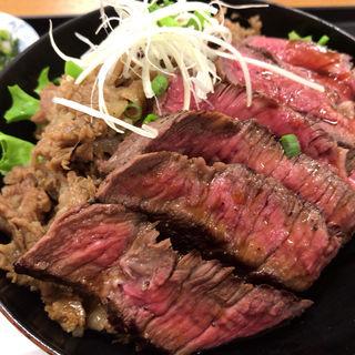 米沢牛ステーキMIX丼(米沢 琥珀堂 山形県観光物産会館 )