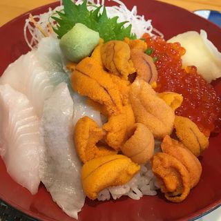 三色丼 ③(女郎花)