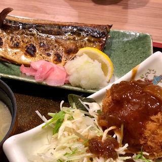 とろ鯖とコロッケ定食(たちばな )