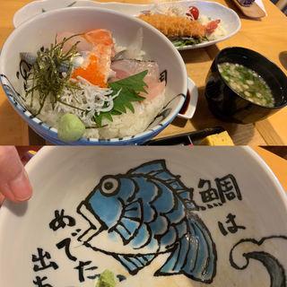 海鮮丼定食(海鮮工房 なみ平)