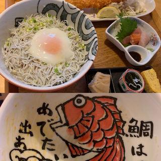しらす丼定食(海鮮工房 なみ平)