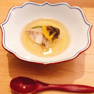 金目鯛の蒸し物(匠鮨おわな)