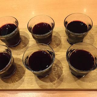 ワイン飲み比べ(タンドール料理ひつじや)