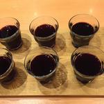 ワイン飲み比べ