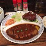 牛タン焼 みそかつ ミックス定食(牛タン大盛り)