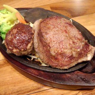 リブステーキ&赤身肉ハンバーグ(筋肉食堂 銀座コリドー店 )