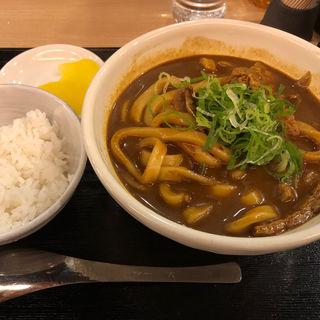 黒カレーうどん(ご飯漬物付)(カレーうどん 千吉 馬喰町店 (かれーうどんせんきち))