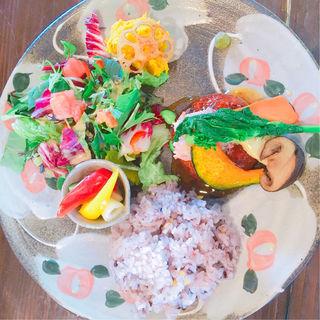 【季節限定】ずわい蟹&野菜の餡かけ揚げ豆腐ハンバーグ(益子の茶屋 )