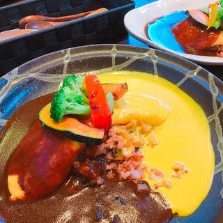 2種ソースのオムライス(かぼ茶庵 )
