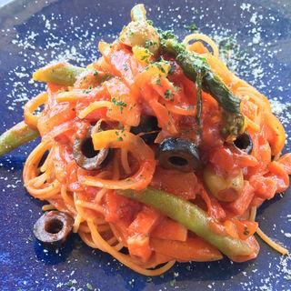 アメーラトマトのナポリタン(Dining Bloom(旧店名 ジャルダン・デ・テ))
