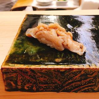 ミル貝の握り(匠鮨おわな)