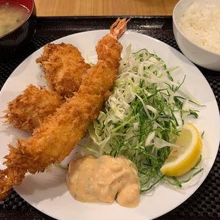 フライ盛り合わせ定食(小田保 場外店)