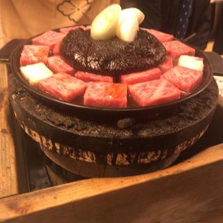 ぶつ切り牛鍋