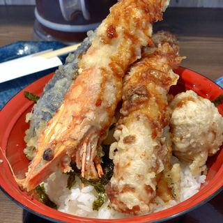 海老天丼(天ぷら海鮮米福 阪急桂駅店)