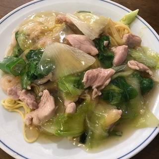 勞麺(海老かしわ蕎麦)