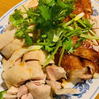 スチーム&ローストチキンquarter(1/4羽)(威南記海南鶏飯 銀座EXITMELSA店 (Wee Nam Kee Chicken Rice/ウィーナムキーチキンライス))