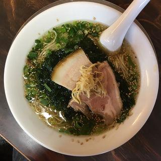 小砂川産天然生アオサそば(湯の台食堂 )