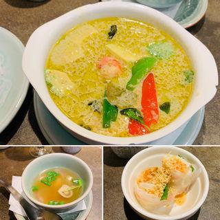 アボカドとエビのグリンカレーセット(タイ料理研究所 渋谷店 )