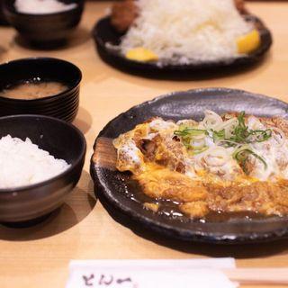 とんとじ定食(豚屋とん一 姫路駅前店)