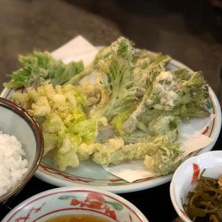 山菜の天ぷら定食(なべ亭 )