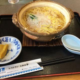 鍋焼きラーメン(道の駅 かわうその里すさき )